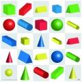 Tapete formas geométricas en 3D